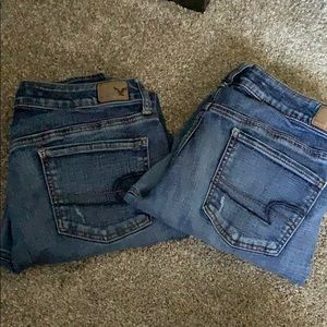American Eagle jeans. Together